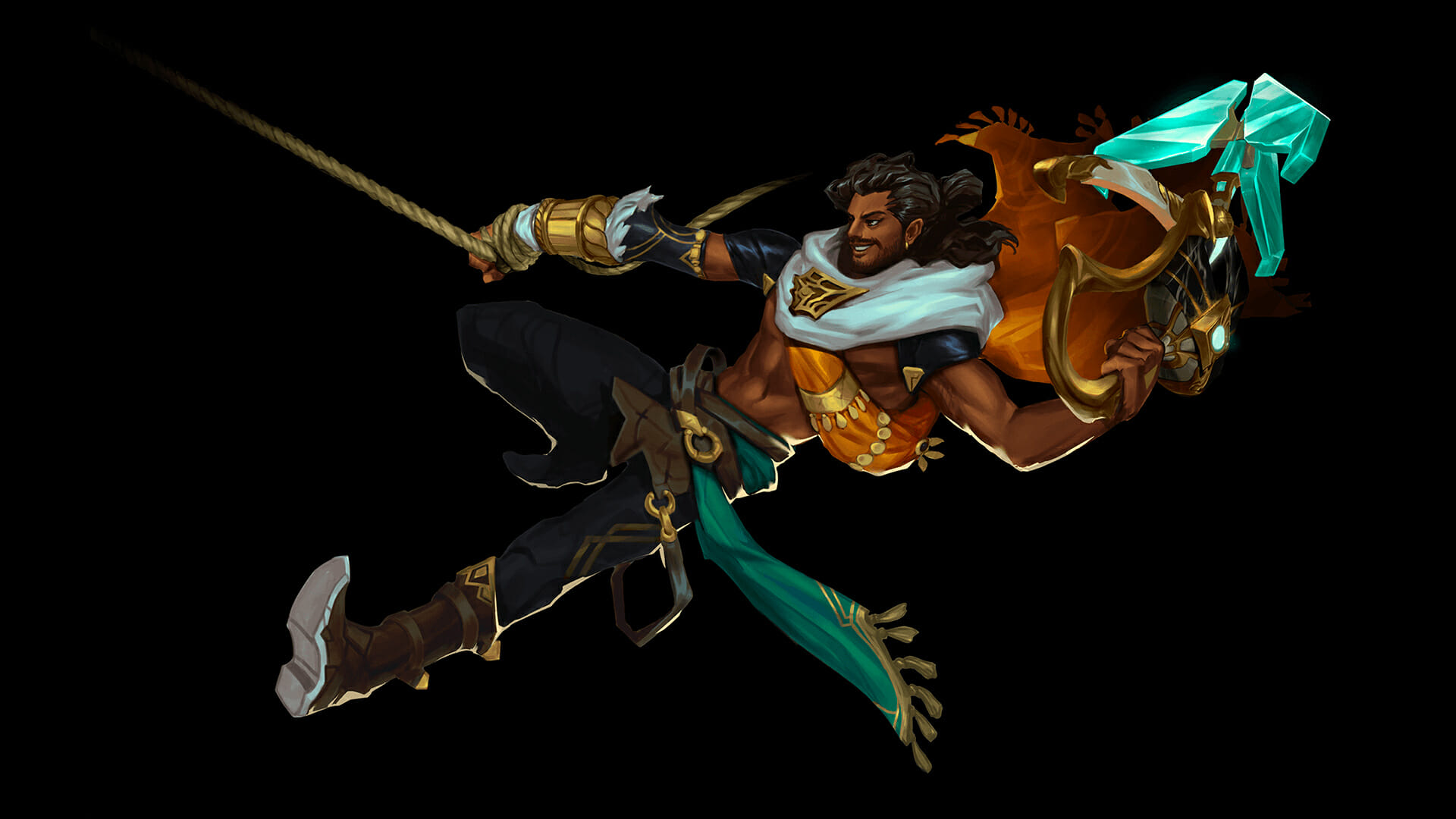 Akshan has a lot of mobility and can swing on his rope to engage enemy champions in LoL