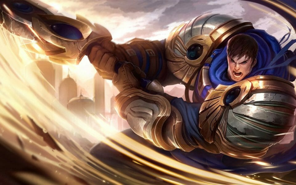 Whirling Sword and Full Armor in Classic Garen Skin