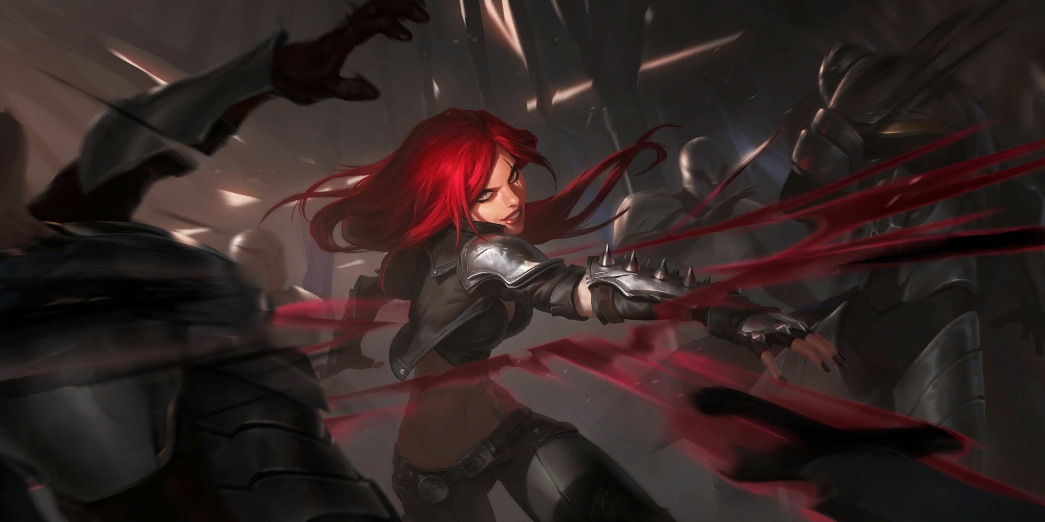 Kat Doing Her Death Lotus Ult Ability Throwing Daggers at Enemies