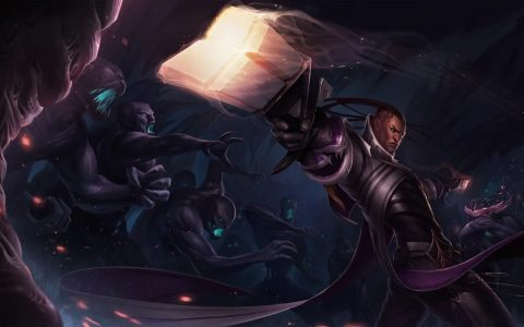 Best Lucian Skin with Glowing Gun and League of Legends Monsters Behind Him