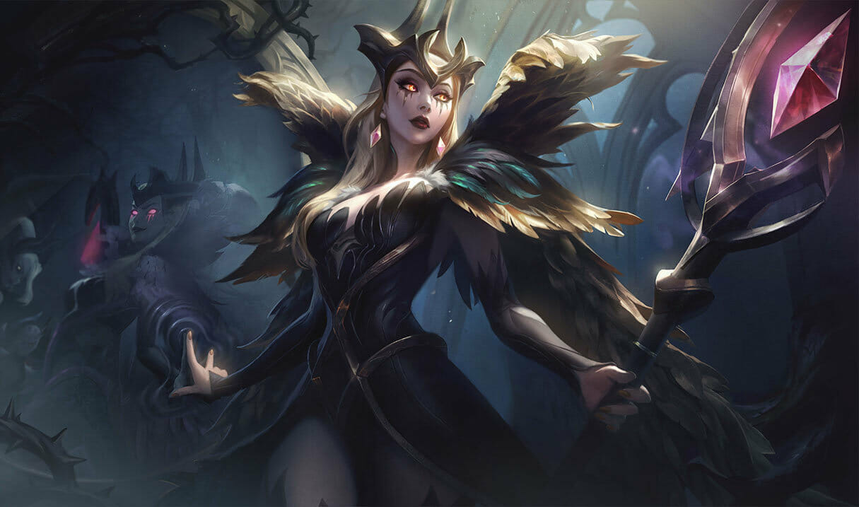 Coven Leblanc in Black and White Feather Outfit