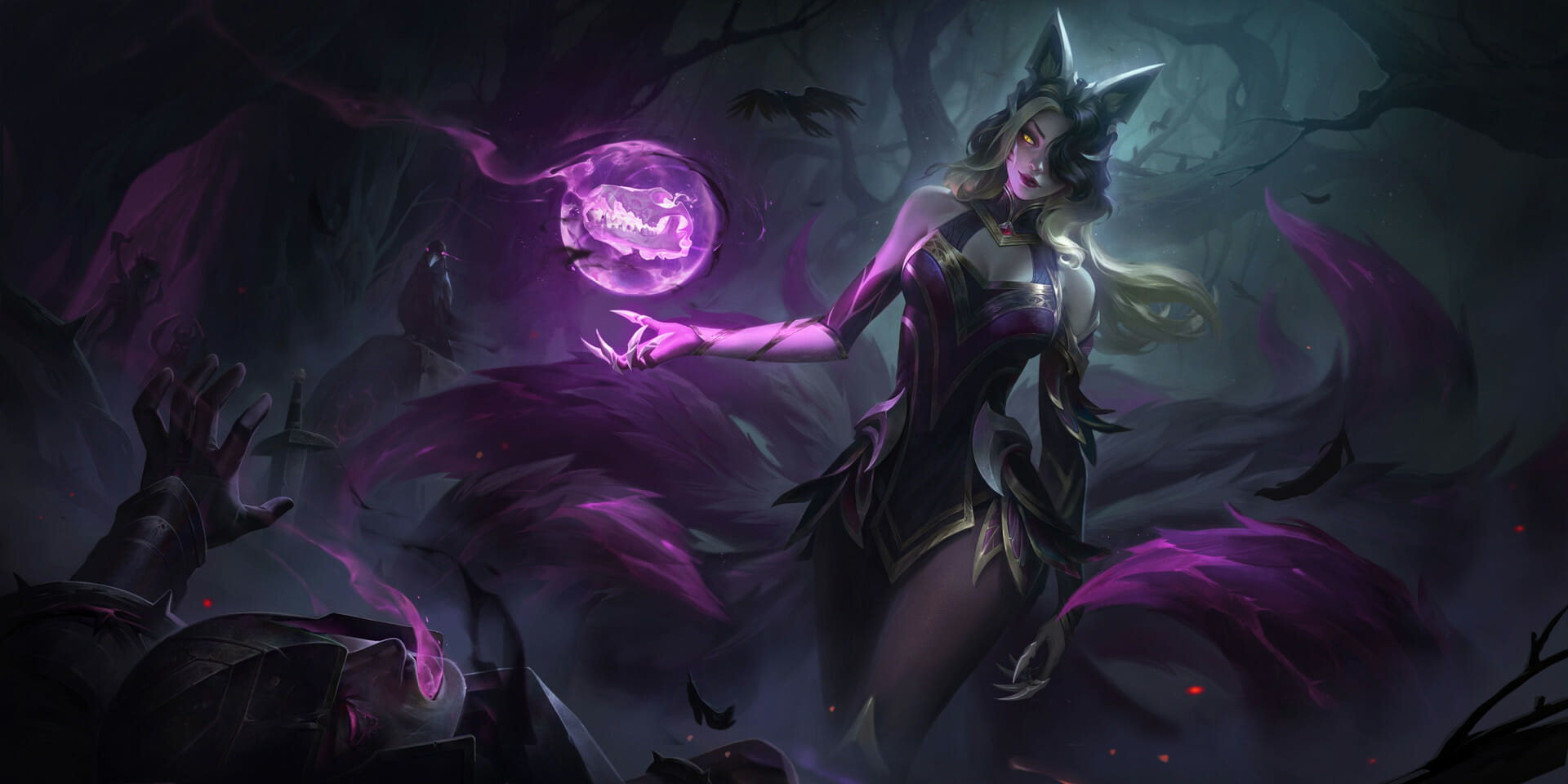 Coven Ahri with Glowing Purple Orb