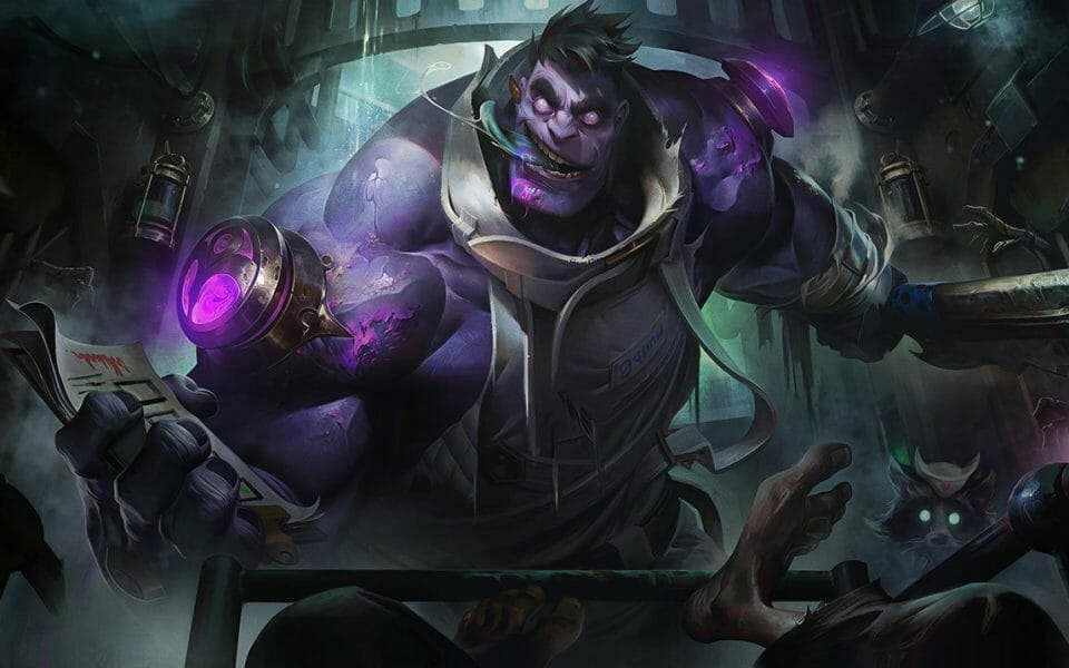 Dr Mundo Support Champion Charging Towards You