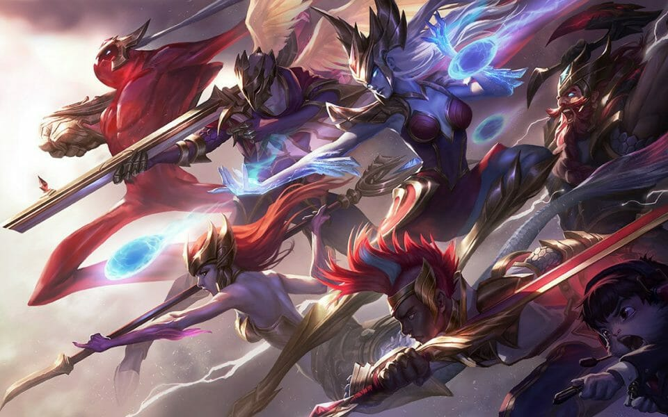 Many League of Legends Champions