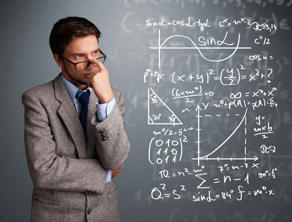 Man Calculating Lethality in LoL with Complex Math