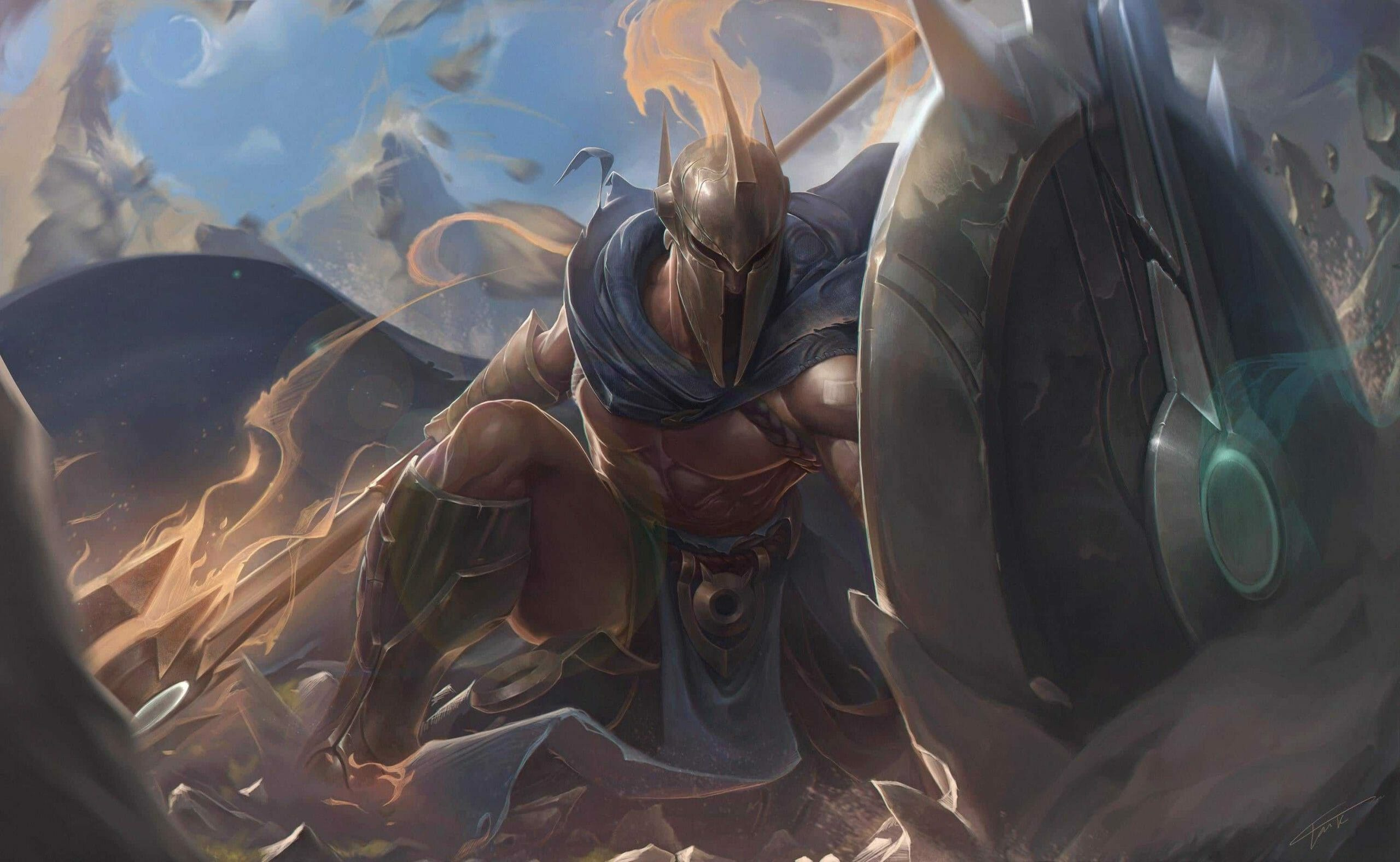 Pantheon Stopping Armor Penetration with His Huge Shield