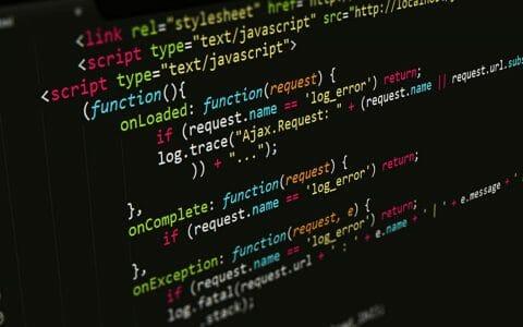 Website Javascript Code Showing Redesign in Progress