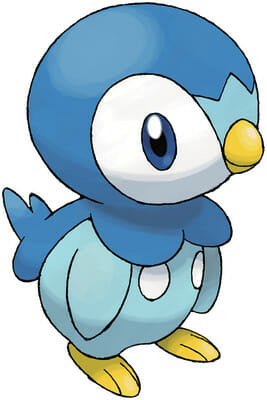 Cute piplup penguin character model from Pokemon Game
