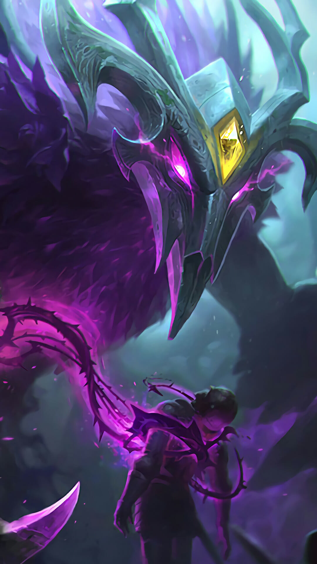 Noc in League of Legends Paralyzing an Enemy with Fear