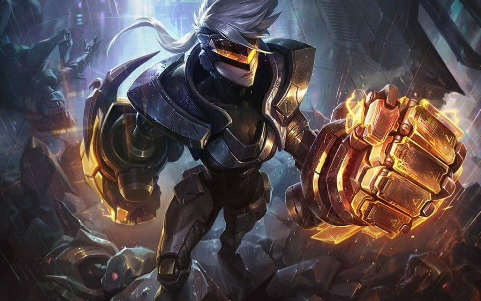 League of Legends Vi Strategy Guide for Cyborg Office Brawler with Glowing Fists