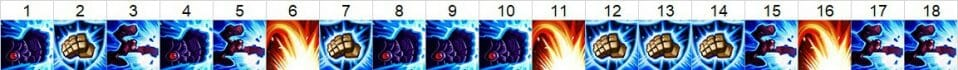 Vi Top Lane Skill Order Showing What Vi Skills to Pick when she is in the top lane and in what order to acquire them