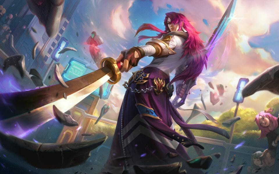 Yone Guide Pointing Sword at the League of Legends Player